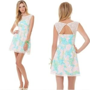Lilly Pulitzer lace overlap dress